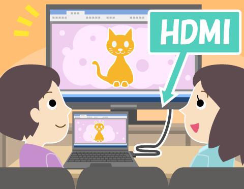 HDMI接続でパソコンの画面をテレビで見られるって本当?【パソコンのこと教えて!谷口でんき店】
