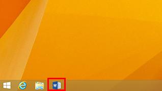 アプリケーションのアイコンをクリックして起動している画面イメージ